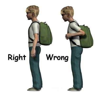 carrying the right backpack