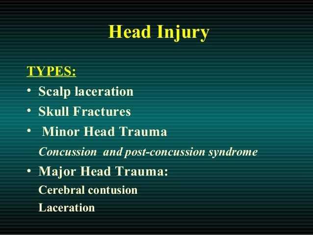 head injuries types