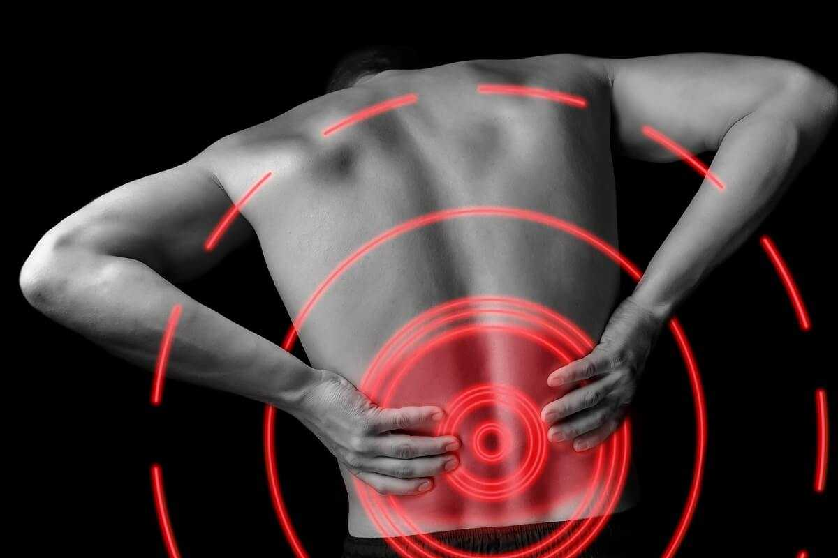 back pain of a man