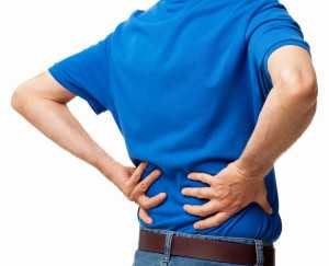 Man Suffering With Backache - Isolated