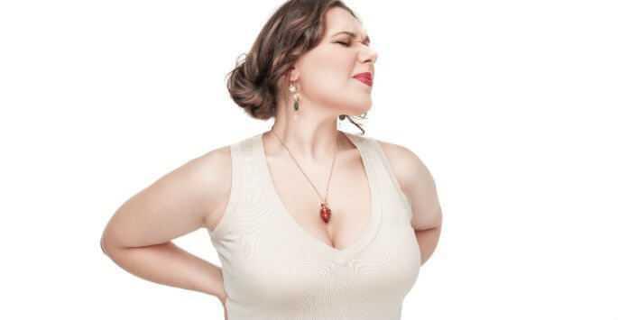 big breast back pain