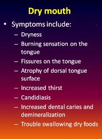 dry mount symptoms