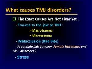 what causes Temporomandibular Joint Syndrome disorders