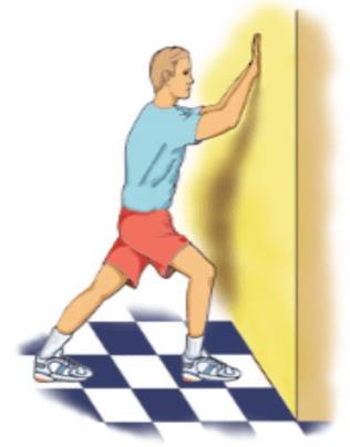 plantar fasciitis wall stretch