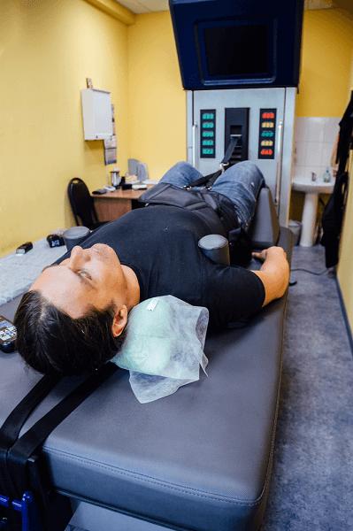 spinal decompression procedure in medical center