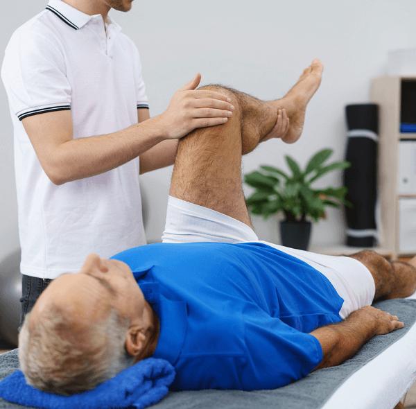 Physiotherapist and osteoarthritis patient