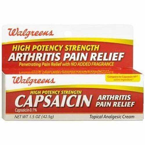 Capsaicin cream for arthritis