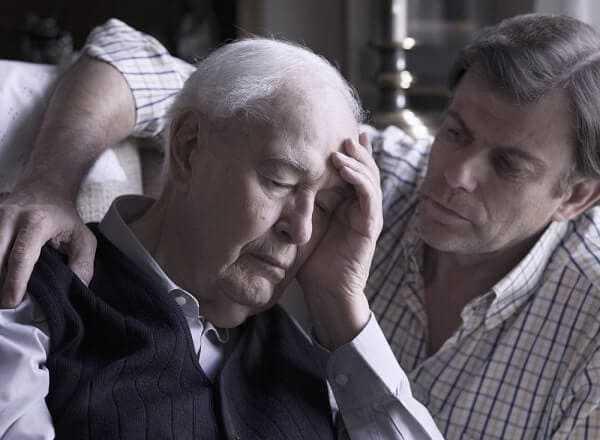 elderly manwith alzheimer disease