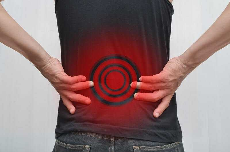 Male back muscles pain