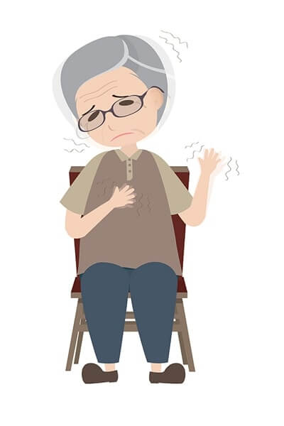 Parkinsons disease patient with dyskinesia symptom