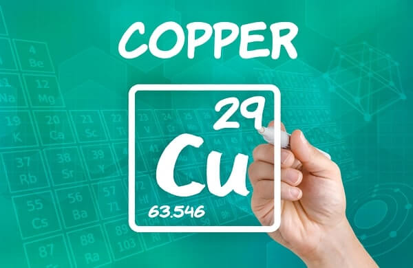 Symbol for the chemical element copper
