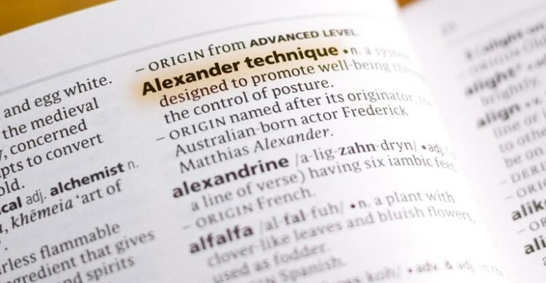 Alexander Technique in a dictionary
