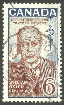 Canada - stamp printed in1969, Famous people, Sir William Osler