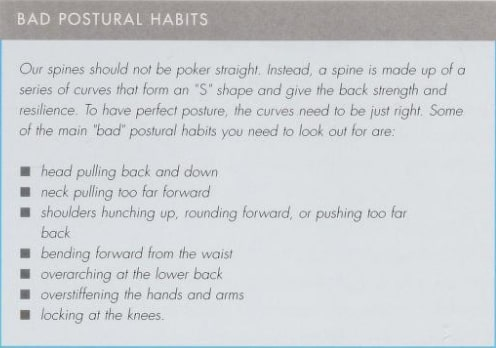 bad postural habits