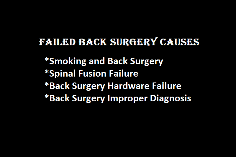 Failed Back Surgery Syndrome Causes