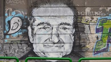 Robin Williams appeared on graphite in Karadjordjeva street in Belgrade