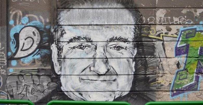 Robin Williams appeared on graphite in Karadjordjeva street in Belgrade