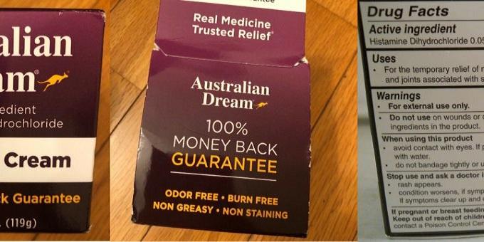 australian dream back pain relief